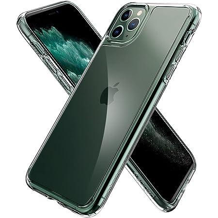 【Spigen】 ガラス ケース iPhone11Pro ケース 5.8インチ 対応 全面 クリア 9H 背面強化ガラス + TPUバンパー 三層構造 にじみ防止 米軍MIL規格 耐衝撃 カメラ保護 液晶保護 カバー 衝撃吸収 四隅滑り止め Qi充電 ワイヤレス充電 クォーツ・ハイブリッド 077CS27237 (クリスタル・クリア)