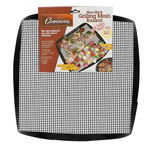 Grilling Basket- 12' x 12' Non Stick, Grilling Basket For Cooking and Barbecues- by Camerons Products