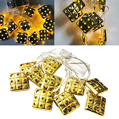 Mobestech musulmán Ramadán String Lights 1.65M 10 LED hada hierro forjado String Light decoración para fiesta de cumpleaños (caliente)