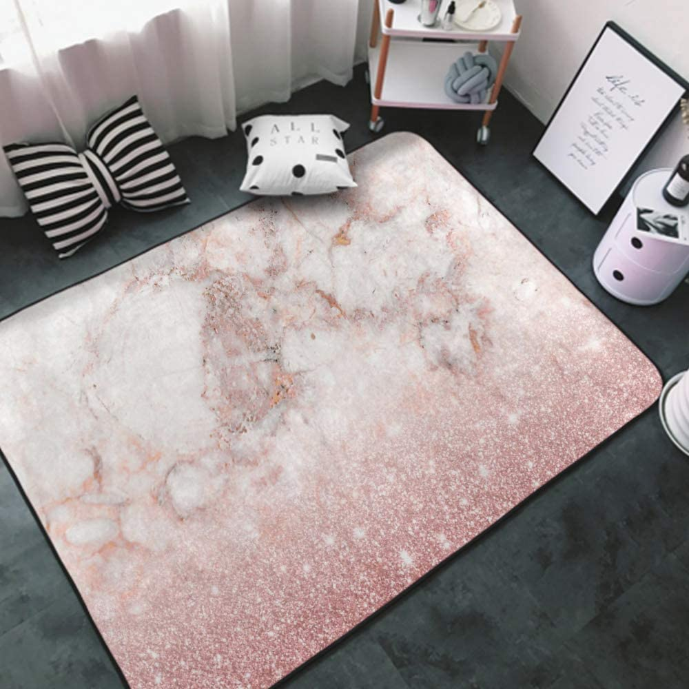 NiYoung Indoor Modern Elegant Faux Gold Pink White Glitter Rose Popular shop is the Max 59% OFF lowest price challenge