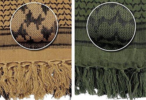 TACVASEN米軍部隊メンズスカーフかっこいいマスクコットンチェック迷彩アフガンストール着心地登山秋冬用OD