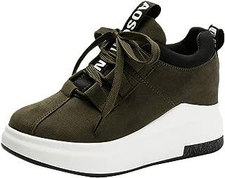 Qootent Women Platform Sneakers Flat Sports Shoes Outdoor Running Walking Shoes