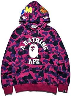 A Bathing APE Shark Head APE Cotton Camo Hoodie Sweater Couple Coats Sweatshirts