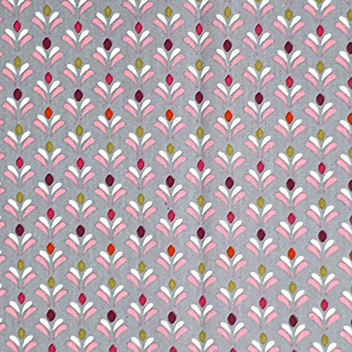 Sugarapple Stoff wasserabweisend, wasserdicht   Meterware Baumwolle beschichtet   Wachstuch   1 Stück Größe ca. 50 cm x 155 cm   TOP Qualität zum Nähen   Joy Grau