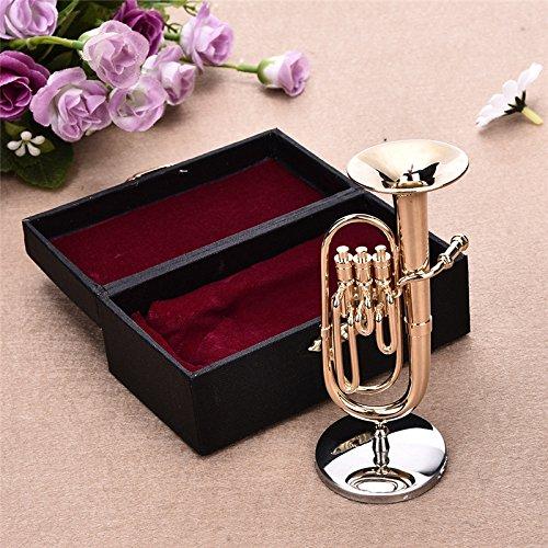 Mini instrumento de alta gama: exquisita guitarra de sousaphone de escritorio, decoración de alta calidad, regalo de mini instrumentos musicales de delicada caja Kangsanlililig