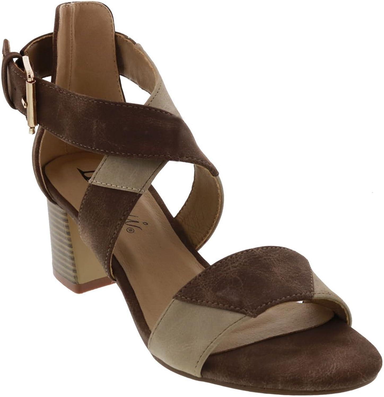 Bellini Womens Patch Open Toe Casual Slingback Sandals