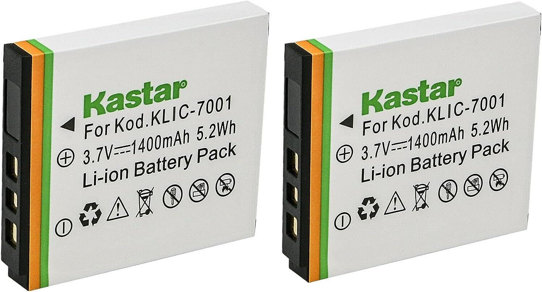 Kastar Fashionable 2-Pack KLIC-7001 K7001 Battery for Kodak Easy ...