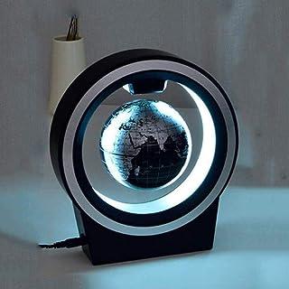 地球儀 グローブワールドスフィアマップブルーアースO字型LEDライトグローブ磁気浮上重力クリエイティブギフトオフィスリビングルームの装飾5.9インチ
