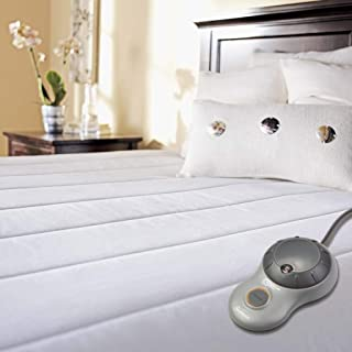 Sunbeam Heated Mattress Pad | Quilted Polyester, 10 Heat Settings , White , Twin - MSU3GTS-P000-12A00