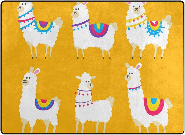 FAJRO Cute Alpacas Collection Polyester Entry Way Doormat Area Rug Multipattern Door Mat Floor Mats shoes Scraper Home Dec Anti-Slip Indoor Outdoor