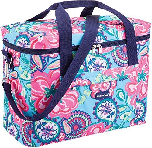 Kitchen Craft We Love Summer Bolsa Grande de refrigeración para la Familia con Rayas náuticas, 21 L (4.5 galones), poliéster, Multicolor, 40 x 20 x 30 cm