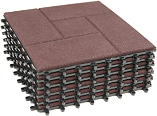 RevTime Easy DIY Interlocking Outdoor Rubber Deck Tiles 12