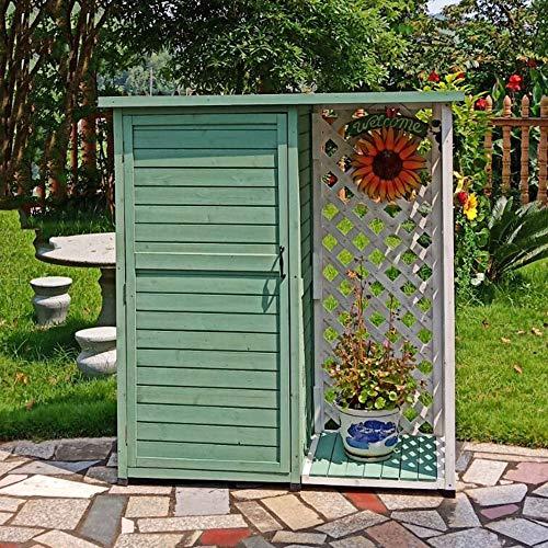 Outdoor-Gartenhaus Grau Werkzeugschrank mit...