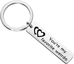 BNQL You're My Favourite Weirdo Keychain Funny Valentines Keychain Gift for Him or Her