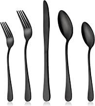 Best all black silverware Reviews