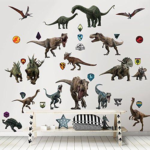 Walltastic Kit zur Raumdekoration Jurassic World 2: Das gefallene Königreich Wandaufkleber, Polypropylene, Multi, 6 Large Sheets