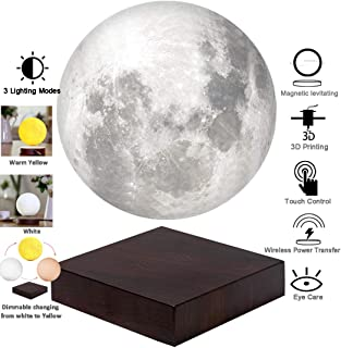 VGAzer Moon Lamp 3D Printing Magnetic Levitating Moon Light Lamps for Home、Office Decor, Creative Gift-6 Inch,Has 3 Colors...