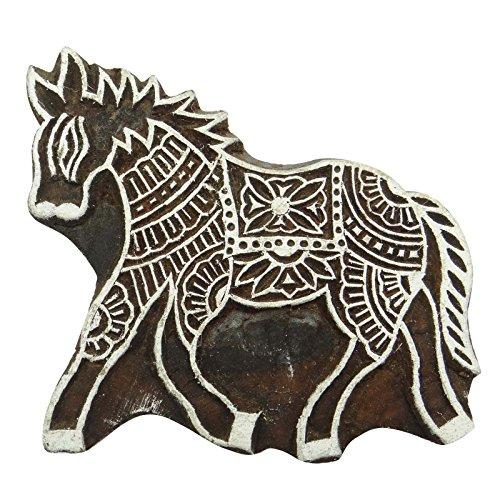 Indianbeautifulart Handgeschnitzte Pferd Brown Printing Block-indischen Holz Stamp Scrapbook Textile Stamp