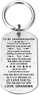 Inspirational Gift for Grandson Granddaughter from Grandma Grandpa I Want You to Believe Keychain for Birthday