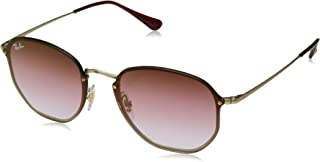 Ray-Ban RB3579N Blaze Hexagonal Sunglasses, Gold Demigloss/Green Grey Gradient Mirror, 58 mm