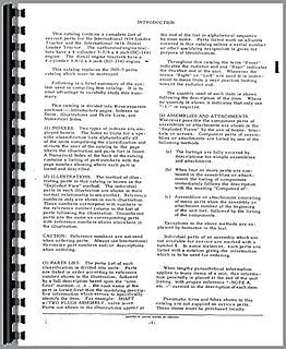 International Harvester 3414 Industrial Tractor Parts Manual