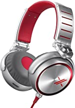 Sony MDRX10/RED X Over-The-Ear Headphones Red/Silver (Renewed)