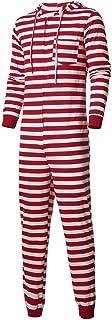 FRAUIT-Top und Hosen FRAUIT Sleepyheads Schlafanzüge für die Ganze Familie, Motiv: Weihnachtself mit roten Streifen, Weihnachtspyjama, passende Sets Nachtwäsche Mit Kapuze Gestreifte Strampler-Familienkleidung