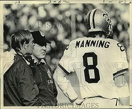 Historic Images - 1972 Press Photo New Orleans Saints Football Coach J.D. Roberts, Archie Manning