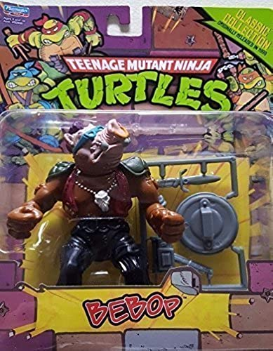 Teenage Mutant Ninja Turtles, Classic Collection, Bebop Action Figure, 4 Inches by Playmates