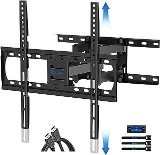 RENTLIV テレビ壁掛け金具 26-55インチの薄型テレビ/曲面液晶テレビ対応 デュアルアーム式 回転/延長/傾斜可能 最大VESA規格400x400mm対応 最大耐荷重45kg