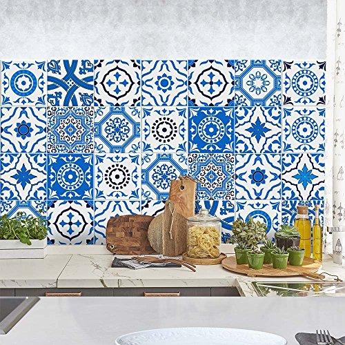 wall art PS00051 Adesivi in PVC per Piastrelle per Bagno e Cucina Stickers Design - Stoccolma