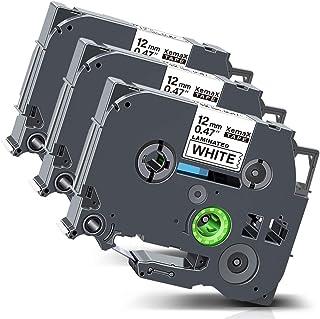 Ouguan 2x Casete de Cinta TZe-231 Tape Cassette Compatible Para PT-1000 P700 9500 2430 GL-H100 GL-H105 GL-200 PT-1080 PTE-550WVP PT-P700 PT-H300 PT-1005 PT-1010,Negro sobre Blanco 12mm x 8m