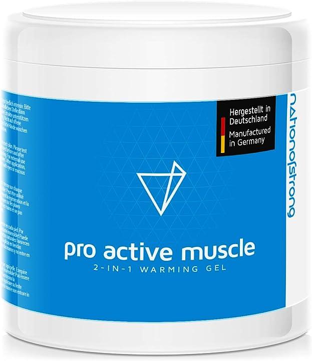 Gel riscaldante con effetto antiinflammatorio e antidolorifico - pro active muscle - 500ml GTWVK GmbH
