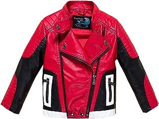 Boys Leather Motorcycle Pilot Jackets Toddler Coats