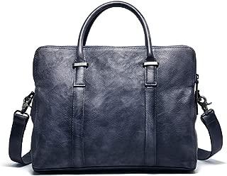 Mens Bag Bookbag Computer Laptop Bag For Men Vintage Genuine Leather Tablet Messenger Bag Briefcase Satchel Shoulder Bag High capacity