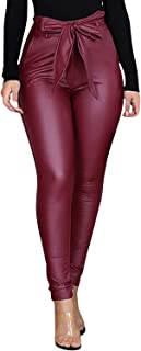 Pleine longueur leggings coton premium rouge confortable /& extensible pantalon tailles 8-22