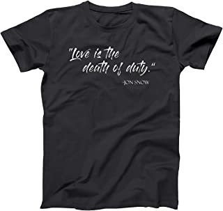 Love is The Death of Duty Jon Snow King of The North Mens Shirt