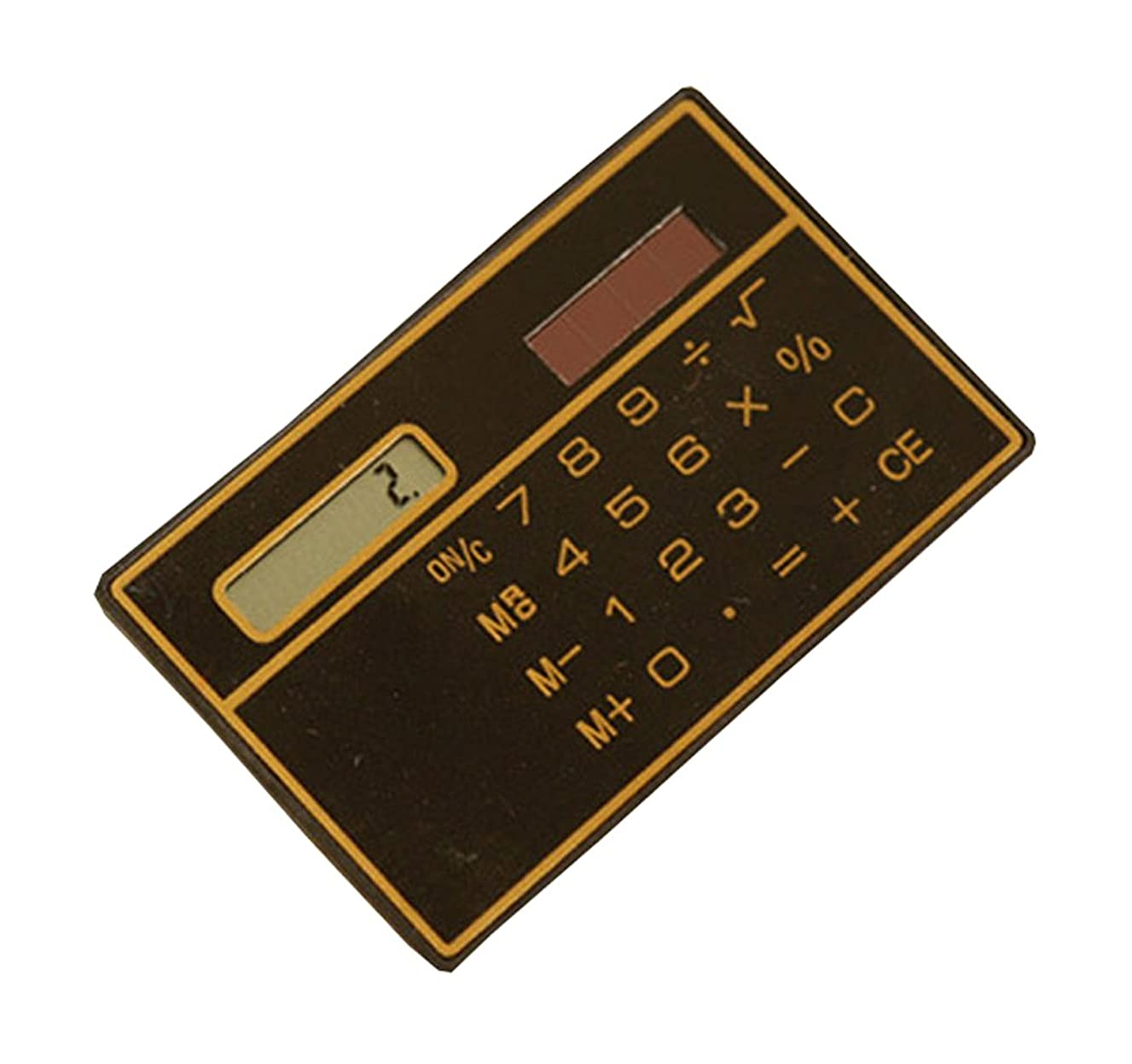 貢献会計適応するミニカードタイプ超薄型ソーラー電卓キュートポータブル小さな電卓
