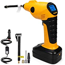 CARYWON Portable Air Compressor Pump Cordless Tire Inflator with Digital Display and LED..