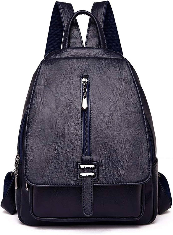 PU-Leder-Damen-beiläufige Rucksack-Handtasche 26 26 26  11  34cm Reißverschluss-Verschluss sechs Farben. (Farbe   E) B07KZVG18K  Überlegene Qualität 85091f