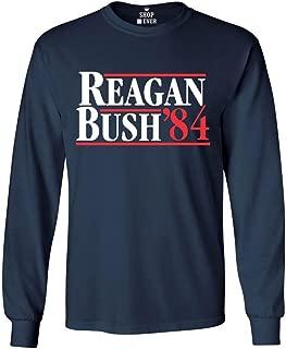 Reagan Bush 84 Long Sleeve Shirt Presidential Campaign Shirts