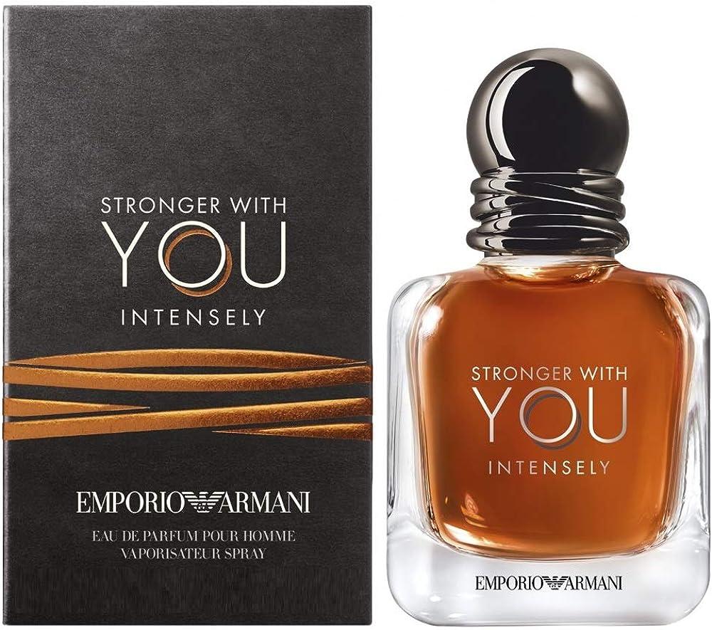 Armani Emporio Stronger With You Intensely,Eau de Parfum,profumo per uomo 100 ml 3614272225718