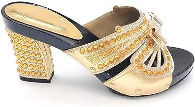 Mymuses Black Shoes African Luxury 2019 Nigerian Women Wedding Slipper Luxury Sandals Women Italian Party Pumps High Heels