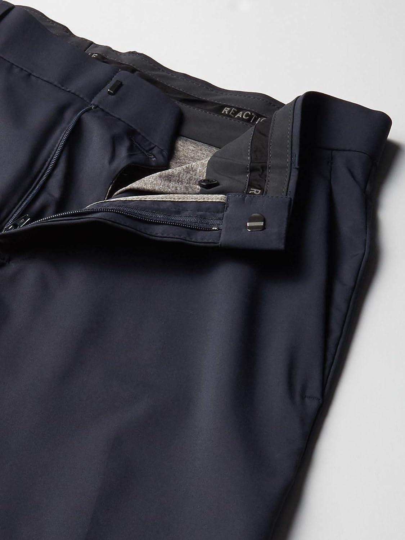 Kenneth Cole Reaction Technicole Pantalon stretch uni pour homme Noir Foncé