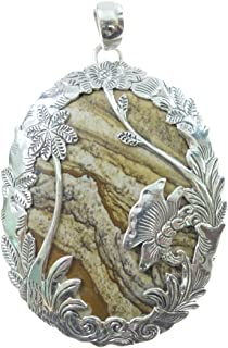 Pendentif Colliers aile dange 18 sculpt/ée /à la main dans une pierre pr/écieuse naturelle de 35/mm