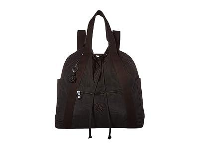 Kipling Art Medium Tote Backpack (Black Noir) Handbags