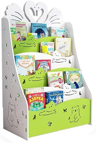 Bücherregal für Kinder, Bodenregal für Kinder, Bücherregal für Kinder, Aufbewahrungsregal für Kinder, Kreatives Bücherregal für Kinder, Cartoon-Bilderbuchhalter aus Kunststoff 60x33x80cm