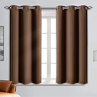 Blackout Curtain Panels - Grommets Blackout Thermal Insulated Curtains, Draperies for Bedroom、Living Room Windows(Cappucci...