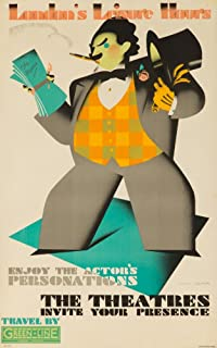 London Underground - Leisure Hours - The Theatres Vintage Poster (artist: Cooper) England c. 1933 (9x12 Art Print, Wall Decor Travel Poster)