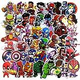 Marvel Lot de 100 autocollants aléatoires pour voiture, ordinateur portable, moto, vélo, bagages, autocollants Graffiti, skateboard pour ordinateur portable – sans double